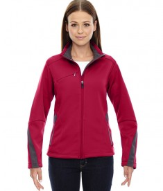 Ash City - North End Sport Red Ladies' Escape Bonded Fleece Jacket Olympic Red