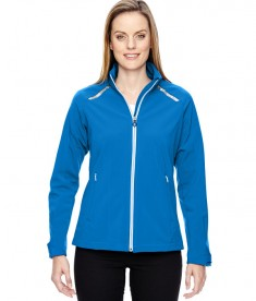 Ash City - North End Sport Red Ladies' Excursion Soft Shell Jacket with Laser Stitch Accents Olympic Blue