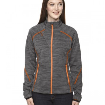 ash-city-north-end-sport-red-ladies-flux-mélange-bonded-fleece-jacket-carbon-orange-soda