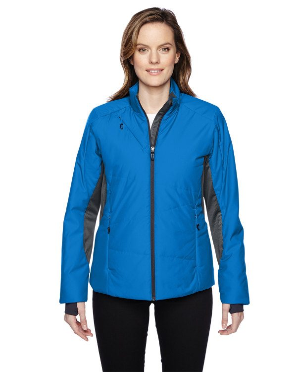Ash City - North End Sport Red Ladies' Immerge Insulated Hybrid Jacket with Heat Reflect Technology Olympic Blue