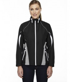 Ash City - North End Sport Red Ladies' Impact Active Lite Colorblock Jacket Black