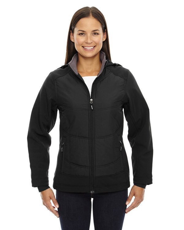Ash City - North End Sport Red Ladies' Neo Insulated Hybrid Soft Shell Jacket Black