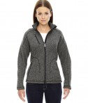 Ash City - North End Sport Red Ladies' Peak Sweater Fleece Jacket Heather Charcoal