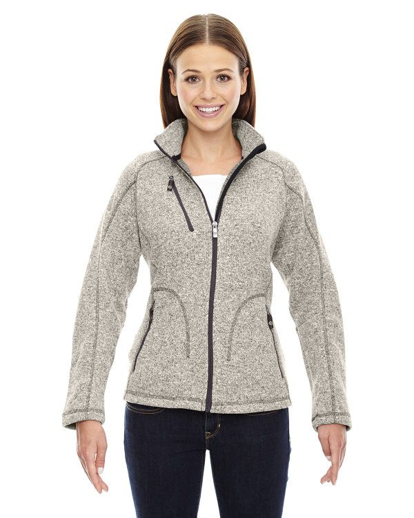 Ash City - North End Sport Red Ladies' Peak Sweater Fleece Jacket LT Heather