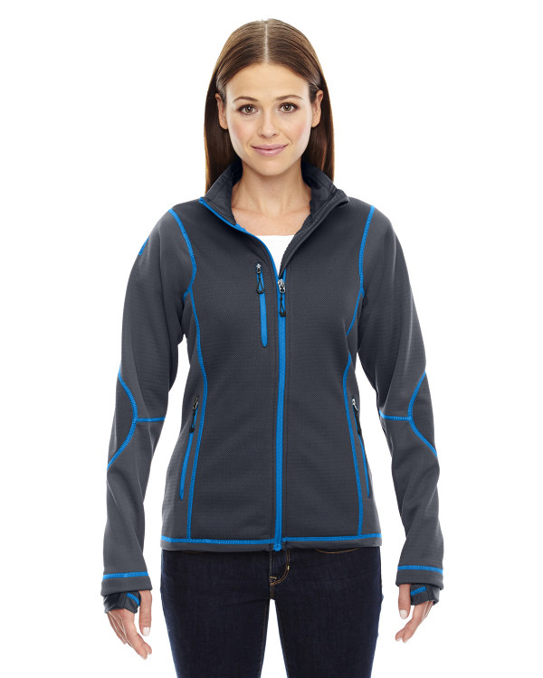 ash-city-north-end-sport-red-ladies-pulse-textured-bonded-fleece-jacket-with-print-carbon-olympic-blue