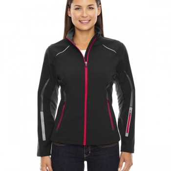 ash-city-north-end-sport-red-ladies-pursuit-three-layer-light-bonded-hybrid-soft-shell-jacket-with-laser-perforation-black-olympic-red