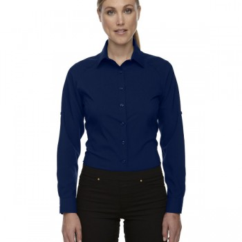 ash-city-north-end-sport-red-ladies-rejuvenate-performance-shirt-with-roll-up-sleeves-navy