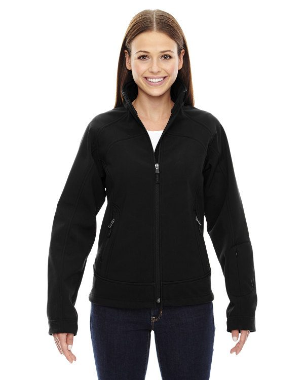 Ash City - North End Sport Red Ladies' Three-Layer Light Bonded Soft Shell Jacket Black
