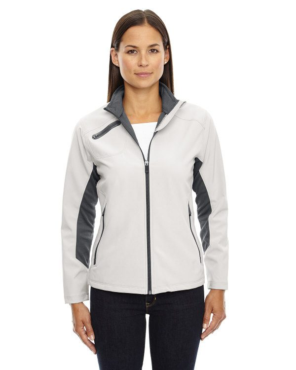 Ash City - North End Sport Red Ladies' Three-Layer Light Bonded Soft Shell Jacket Concrete