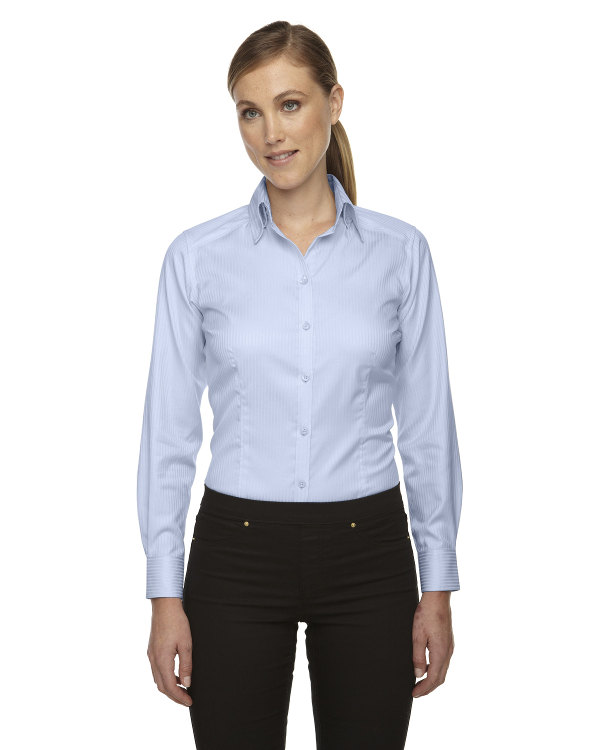 ash-city-north-end-sport-red-ladies-wrinkle-free-two-ply-80s-cotton-taped-stripe-jacquard-shirt-cool-blue