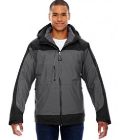 Ash City - North End Sport Red Men's Alta 3-in-1 Seam-Sealed Jacket with Insulated Liner Black Back