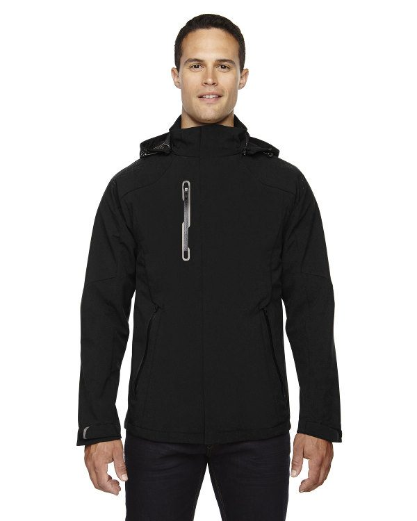 Ash City - North End Sport Red Men's Axis Soft Shell Jacket with Print Graphic Accents Black