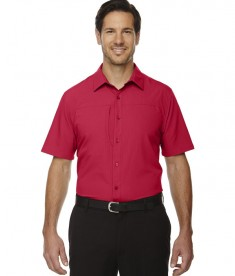 Ash City - North End Sport Red Men's Charge Recycled Polyester Performance Short-Sleeve Shirt Classic Red