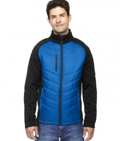 Ash City - North End Sport Red Men's Epic Insulated Hybrid Bonded Fleece Jacket Olympic Blue