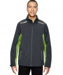 Ash City - North End Sport Red Men's Excursion Soft Shell Jacket with Laser Stitch Accents Carbon/ACD Green