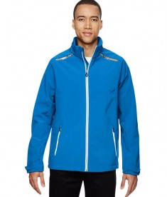 Ash City - North End Sport Red Men's Excursion Soft Shell Jacket with Laser Stitch Accents Olympic Blue