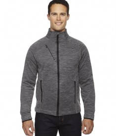 Ash City - North End Sport Red Men's Flux Mélange Bonded Fleece Jacket Carbon