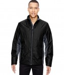 Ash City - North End Sport Red Men's Immerge Insulated Hybrid Jacket with Heat Reflect Technology Black