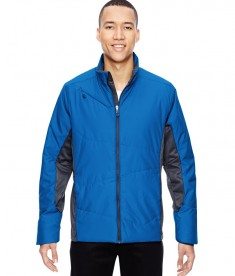 Ash City - North End Sport Red Men's Immerge Insulated Hybrid Jacket with Heat Reflect Technology Olympic Blue