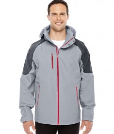 Ash City - North End Sport Red Men's Impulse Interactive Seam-Sealed Shell Jacket Platinum/Carbon