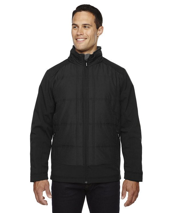 Ash City - North End Sport Red Men's Neo Insulated Hybrid Soft Shell Jacket Black