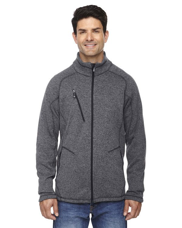 Ash City - North End Sport Red Men's Peak Sweater Fleece Jacket Heather Charcoal