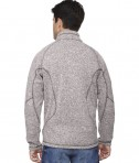 Ash City - North End Sport Red Men's Peak Sweater Fleece Jacket Light Heather Back