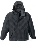 Ash City - North End Sport Red Men's Performance Seam-Sealed Jacket Black Silk