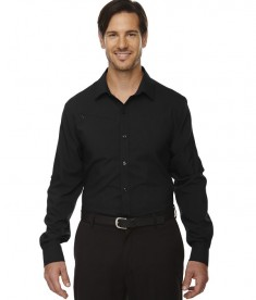 Ash City - North End Sport Red Men's Rejuvenate Performance Shirt with Roll-Up Sleeves Black