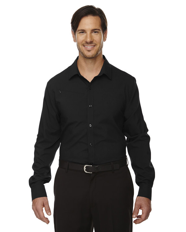 ash-city-north-end-sport-red-mens-rejuvenate-performance-shirt-with-roll-up-sleeves-black