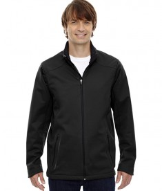 Ash City - North End Sport Red Men's Splice Three-Layer Light Bonded Soft Shell Jacket with Laser Welding Black