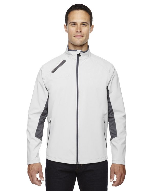 Ash City - North End Sport Red Men's Three-Layer Light Bonded Soft Shell Jacket Concrete