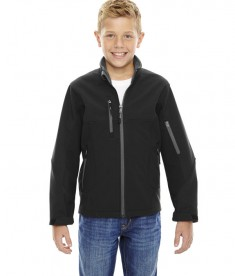 Ash City - North End Youth Compass Colorblock Three-Layer Fleece Bonded Soft Shell Jacket Black