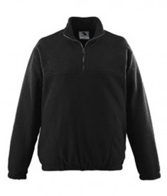 Augusta Drop Ship Chill Fleece Half-Zip Pullover Black
