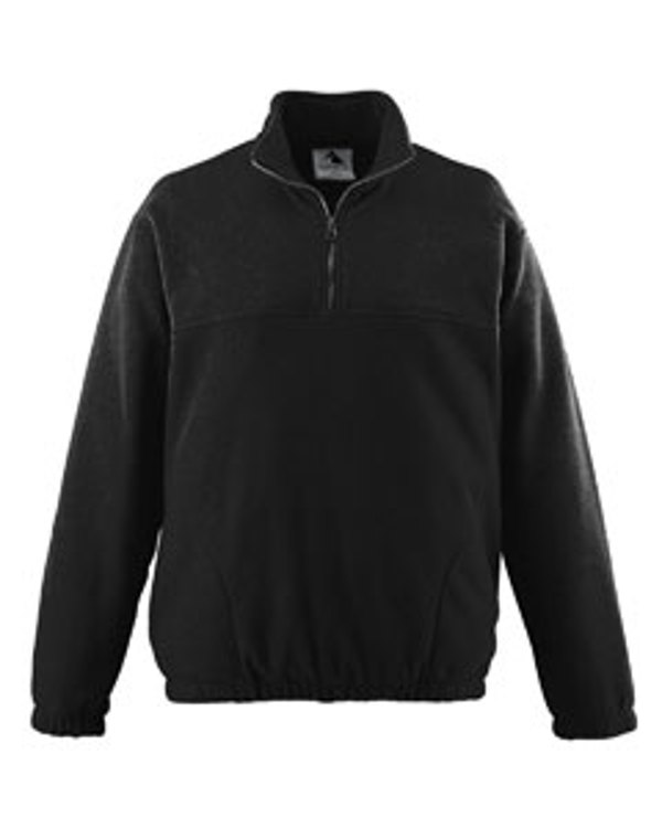 augusta-drop-ship-chill-fleece-half-zip-pullover-black