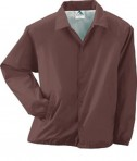 Augusta Drop Ship Lined Nylon Coach's Jacket Brown