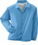 Augusta Drop Ship Lined Nylon Coach's Jacket Columbia Blue