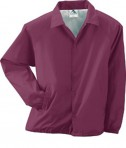Augusta Drop Ship Lined Nylon Coach's Jacket Maroon
