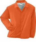 Augusta Drop Ship Lined Nylon Coach's Jacket Orange