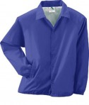 Augusta Drop Ship Lined Nylon Coach's Jacket Purple