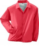 Augusta Drop Ship Lined Nylon Coach's Jacket Red