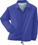Augusta Drop Ship Youth Lined Nylon Coach's Jacket Purple