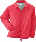 Augusta Drop Ship Youth Lined Nylon Coach's Jacket Red