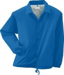 Augusta Drop Ship Youth Lined Nylon Coach's Jacket Royal