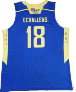 blue and yellow basketball jersey-back