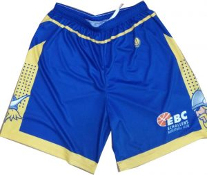 blue and yellow basketball shorts-front