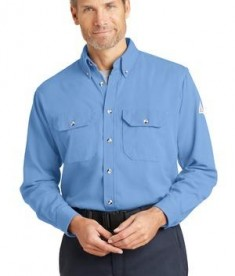 Bulwark CoolTouch 2 Dress Uniform Shirt Light Blue