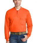 Bulwark EXCEL FR Long Sleeve Tagless Henley Orange