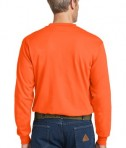 Bulwark EXCEL FR Long Sleeve Tagless Henley Orange Back View