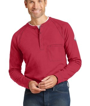 bulwark iq-long-sleeve-henley-red-front